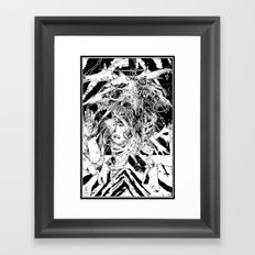 Devil glitch  Framed Art Print