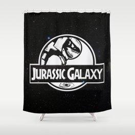 Jurassic Galaxy - White Shower Curtain