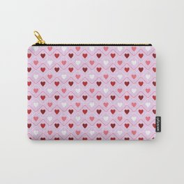 Valentines - Pink Heart Pattern Carry-All Pouch