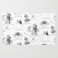 pride and prejudice Area & Throw Rugs featuring Pride and Prejudice Toile by Aimee Steinberger