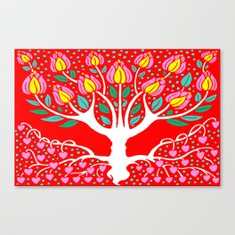 Love Grows Forever - Tomato Red Canvas Print