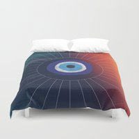 evil eye Duvet Covers featuring Evil Eye by DuckyB