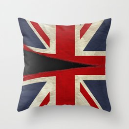 Ripped Union Jack Throw Pillow