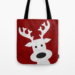 Christmas reindeer red marble Tote Bag