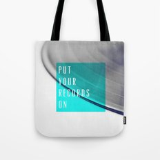Records - Blue Tote Bag