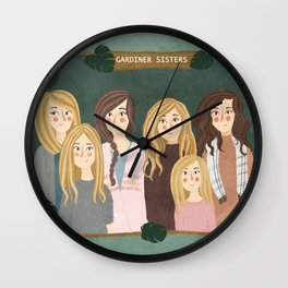 The Gardiner Sisters Wall Clock