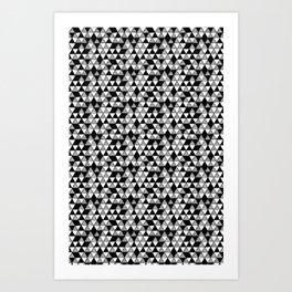 Drawn Triangles 03  Art Print