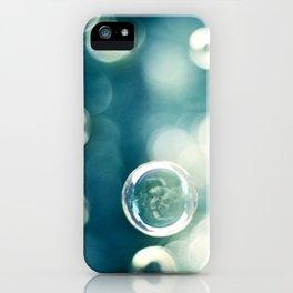 Bubble Photography, Teal Bathroom Art, Turquoise Aqua Laundry Photo iPhone Case