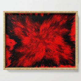 Fire Behind Glass (Red series #11) Serving Tray