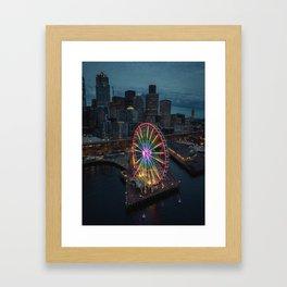 The Great Wheel Framed Art Print
