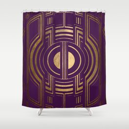 Art Deco Unfinished Love In Purple Shower Curtain