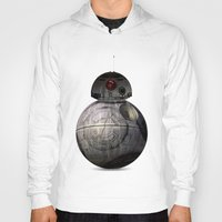 death star Hoodies featuring BB8 Death Star by Daniac Design