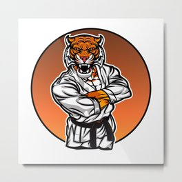 MMA fighter tiger Metal Print