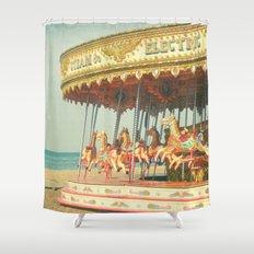 Seaside Carousel Shower Curtain