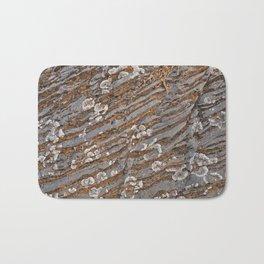Cracked Stone Striations Bath Mat