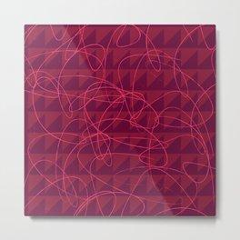Pink Leather Metal Print