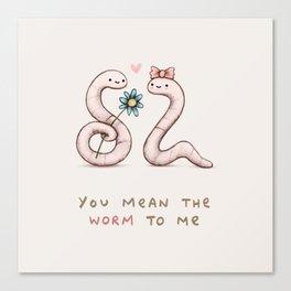 Worm Love Canvas Print