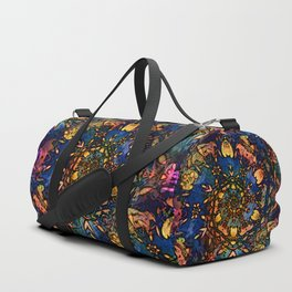 Floral swirl with bold colors Duffle Bag