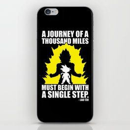 A Journey Of A Thousand Miles (Goku) iPhone Skin