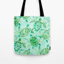 TURTLE FLOAT Watercolor Tote Bag