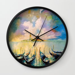 Venice before the storm Wall Clock