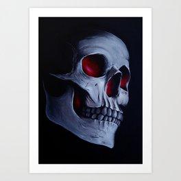 Acrylic Skull Art Print