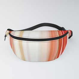 living coral pink white striped pattern Fanny Pack