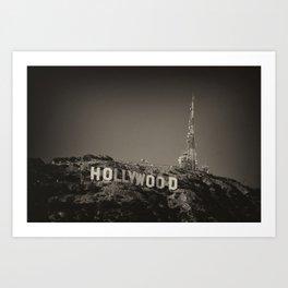 Vintage Hollywood sign Art Print