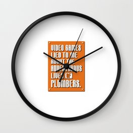 Video Games Lied to Me Wall Clock