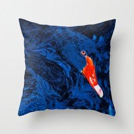Barking Swan Throw Pillow