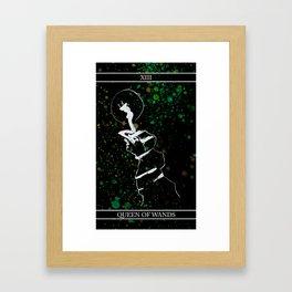 A Tarot of Ink 13 Queen of Wands Framed Art Print