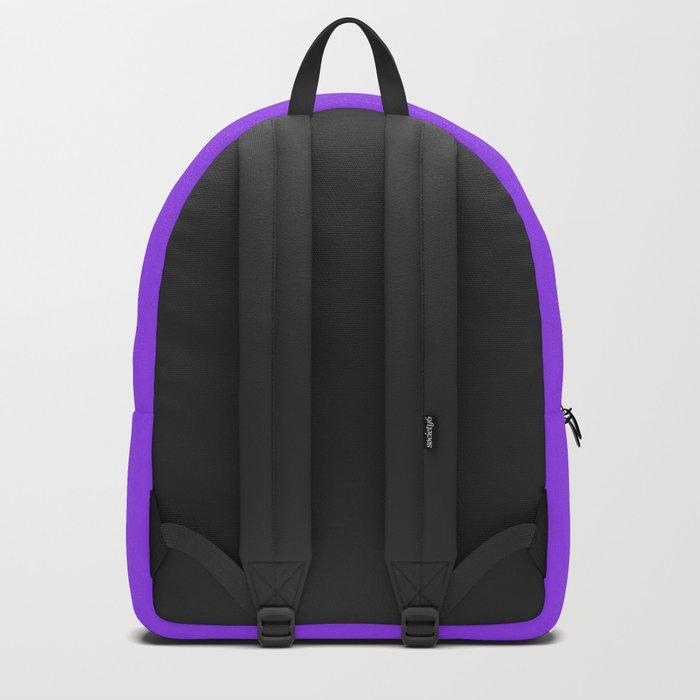 Bright Fluorescent Neon Purple Backpack