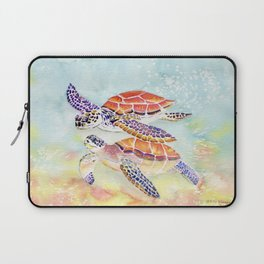 Swimming Together - Sea Turtle Laptop Sleeve