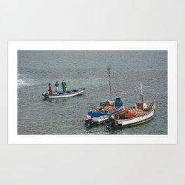 Fishermans in Cape Verde Art Print