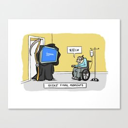 Geeks' Final Moments Canvas Print