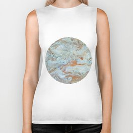 Marble in shades of blue and gold Biker Tank