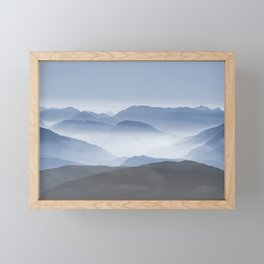 Blue Mountains in Dust - Photoadaption Framed Mini Art Print