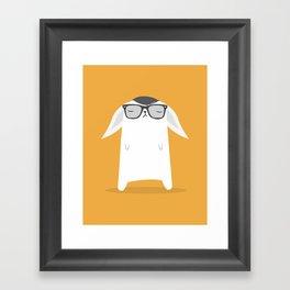 Hipster Bunny Framed Art Print