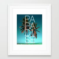 paradise Framed Art Prints featuring PARADISE by Chrisb Marquez