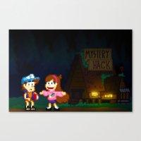 gravity falls Canvas Prints featuring Gravity Falls by Ryan John