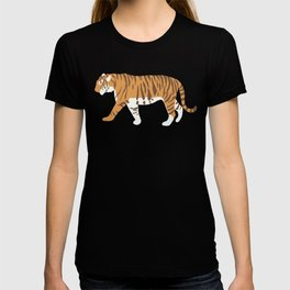 Tiger Trendy Flat Graphic Design T-shirt