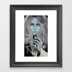 Alien warrior girl Framed Art Print