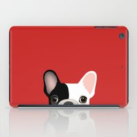 french iPad Cases featuring French Bulldog by Anne Was Here