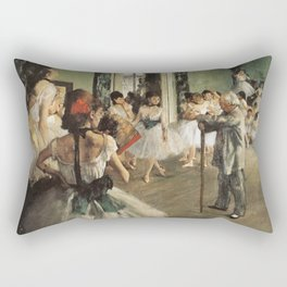 The Dance Class, Edgar Degas, 1874 Rectangular Pillow