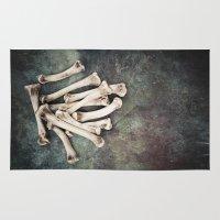 bones Area & Throw Rugs featuring Bones by Maria Heyens