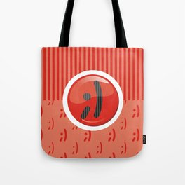 Red Writer's Mood Tote Bag