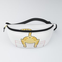'Hellooow??' cute kitten in the pocket - cat lovers - pet lovers - cute animals Fanny Pack