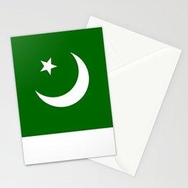 Pakistan national flag Stationery Cards