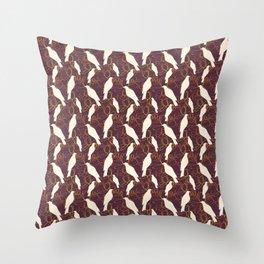Kereru and magnolia - chocolate  Throw Pillow