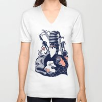 sandman V-neck T-shirts featuring Ole Lukøje by Xenia Pirovskikh